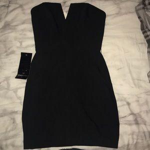 bebe owen strapless dress size 4
